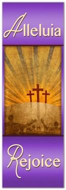 alleluia rejoice banner