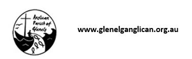 glenelg anglican url and black and white logo