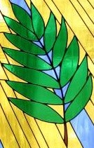 palm stain glass